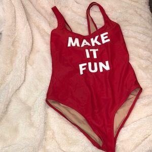 One piece swimsuit